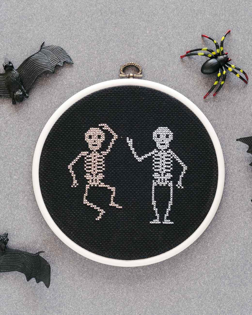 Cross-stitch skeleton project