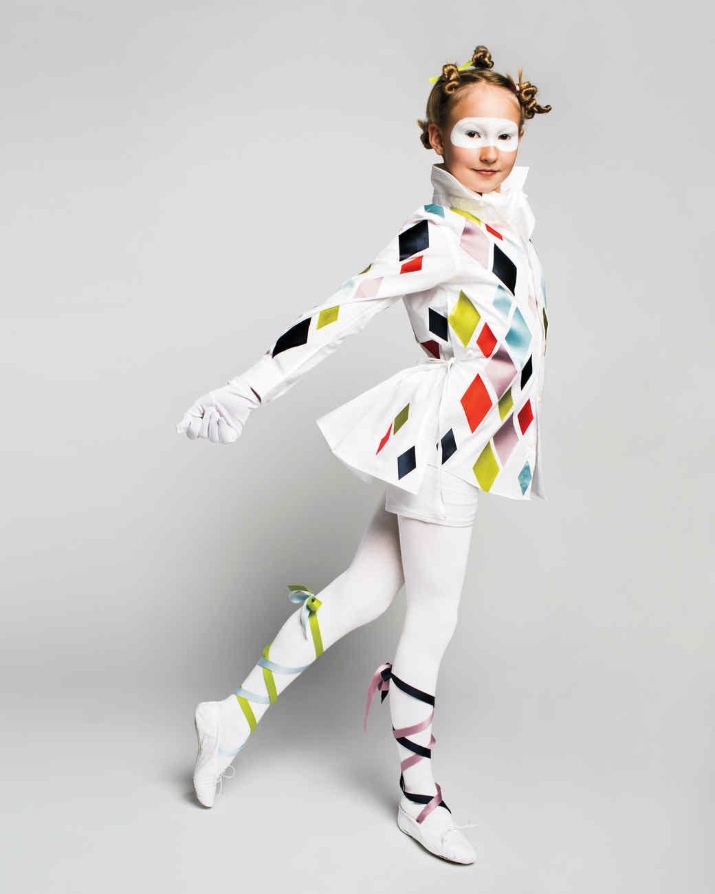 Harlequin Halloween Costume Martha Stewart