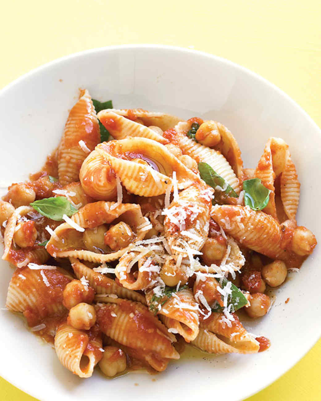 Pasta with Chickpea-Tomato Sauce
