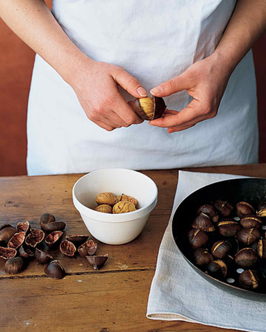 How To Roast And Peel Chestnuts Martha Stewart