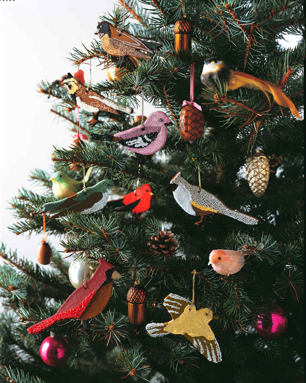 Attractive Bird Ornaments For Christmas Trees Part - 9: Martha Stewart