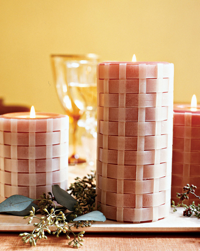 Basket-Weave Candles