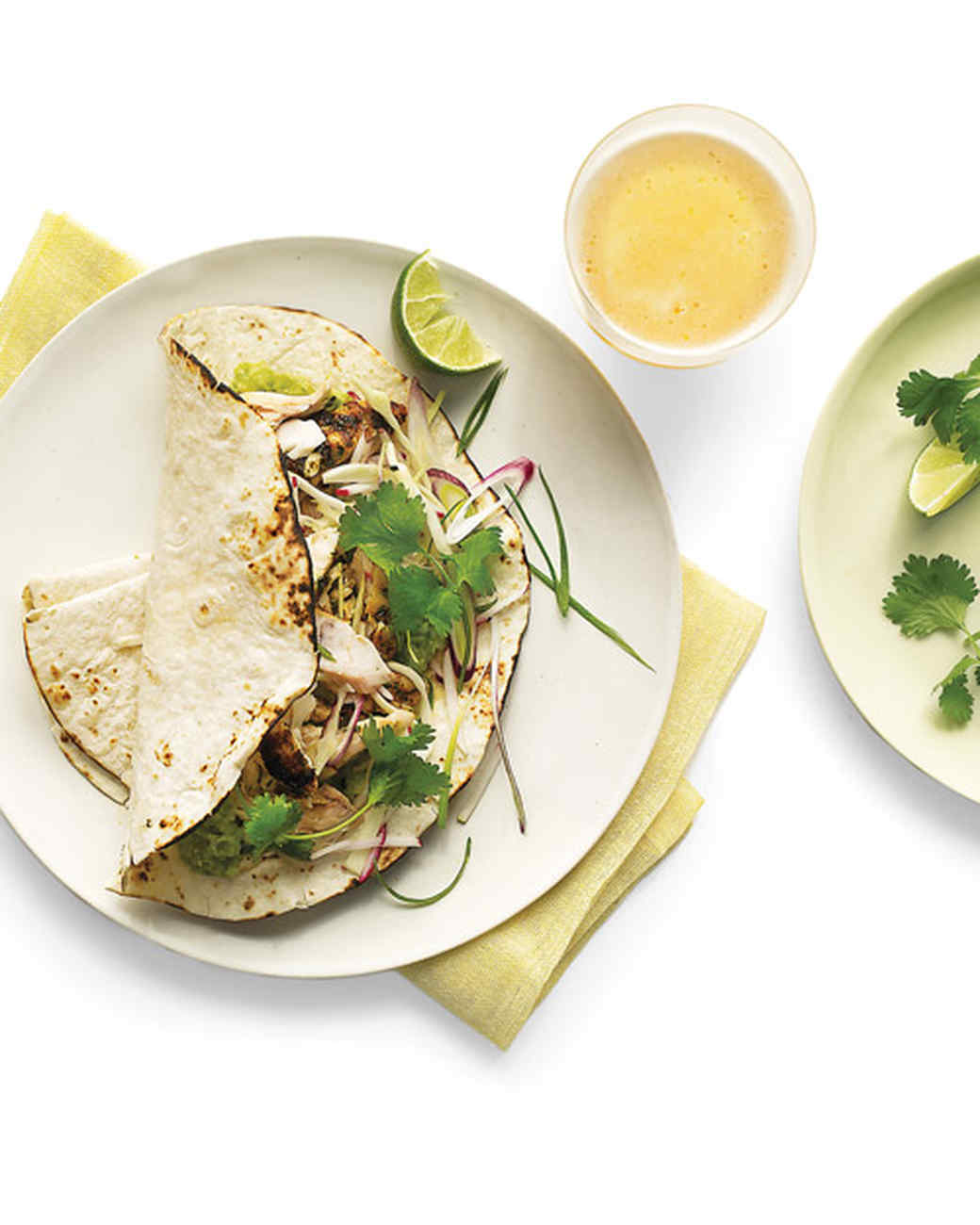 Grilled fish tacos with radish cabbage slaw recipe for Grilled fish taco recipe with cabbage slaw