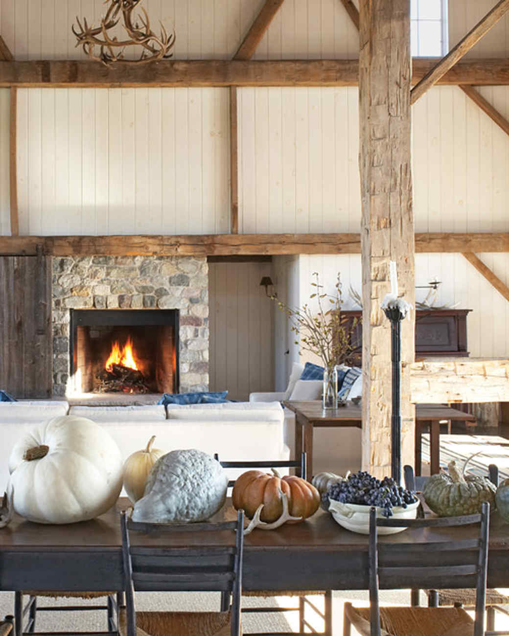 home tour rustic and refined barn home martha stewart