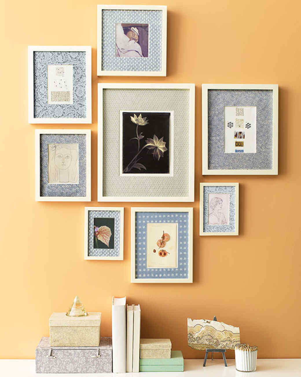 prints with custom patterned mats martha stewart