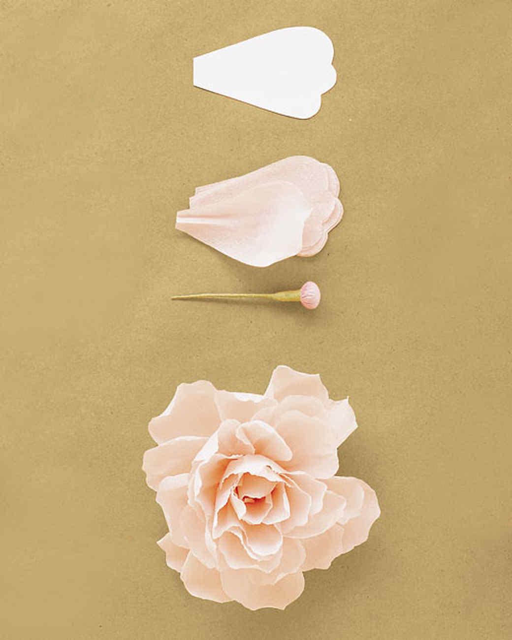Шаблон как сделать пион из бумаги