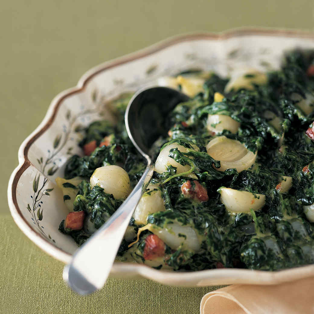 Creamed Spinach and Pearl Onions