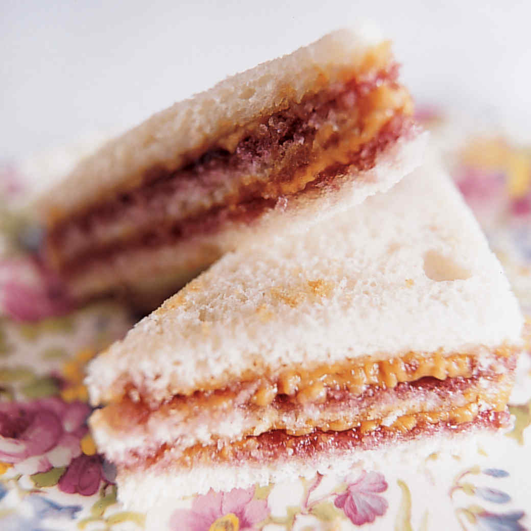 Triple Decker PB & J Tea Sandwiches