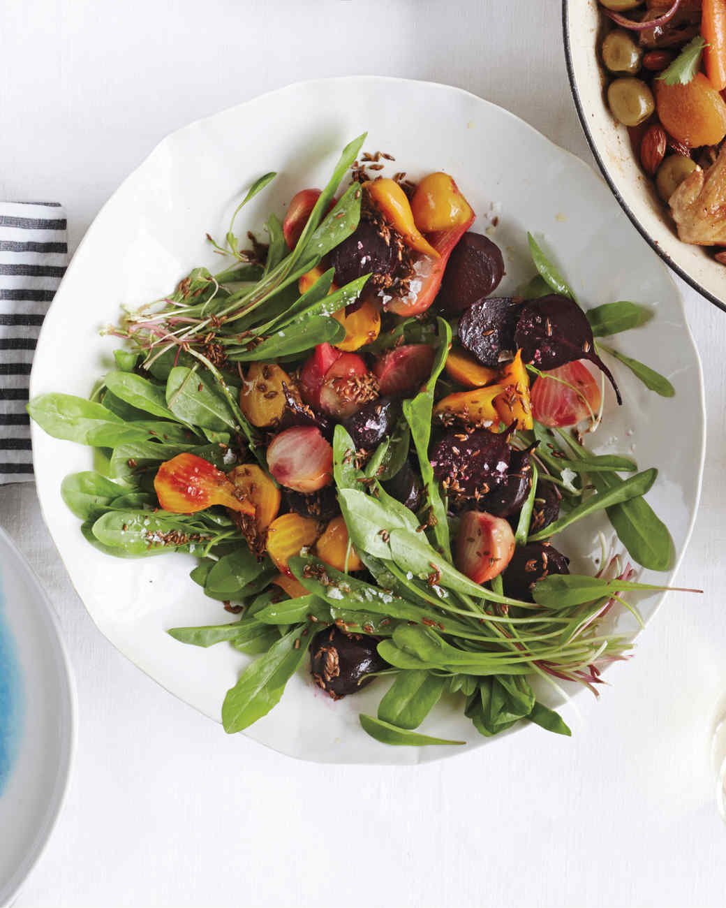 Roasted Beet and Dandelion Greens Salad
