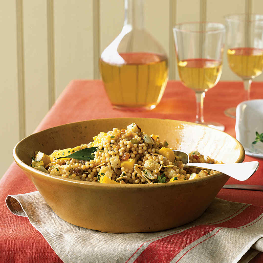 Israeli Couscous and Fall-Vegetable Stuffing