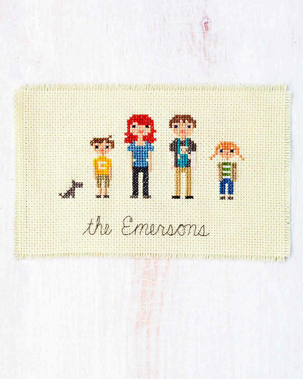 Cross-Stitch Family Portrait | Martha Stewart