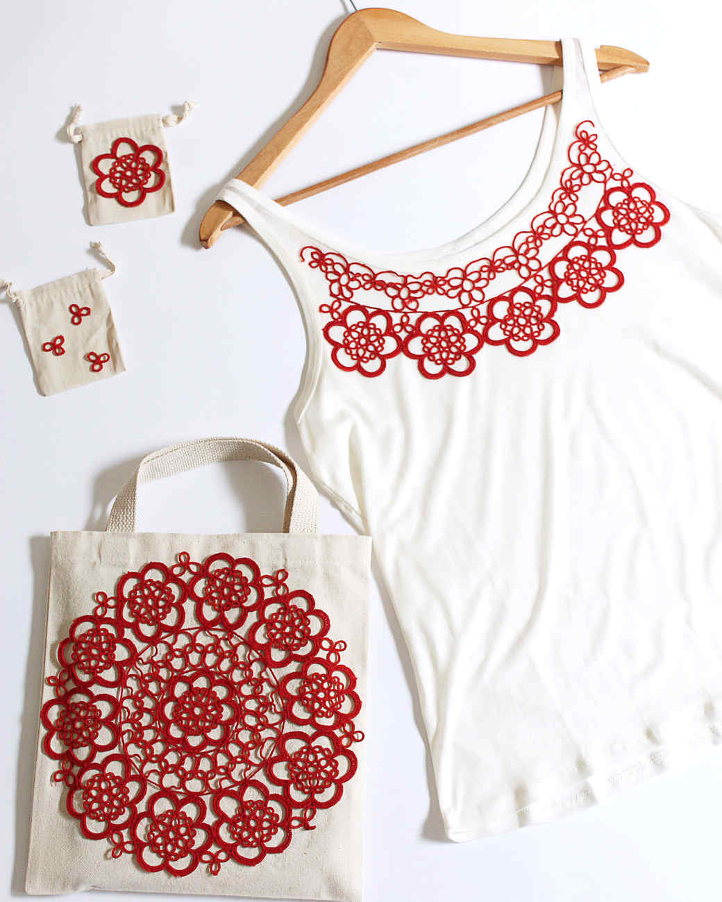 Doily Camisole and Bags