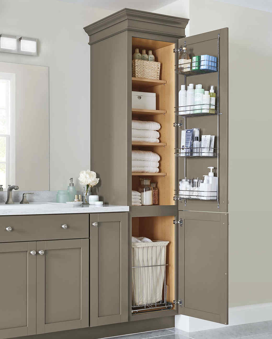 Martha stewart collection of products storage and for Kitchen and bathroom cabinets