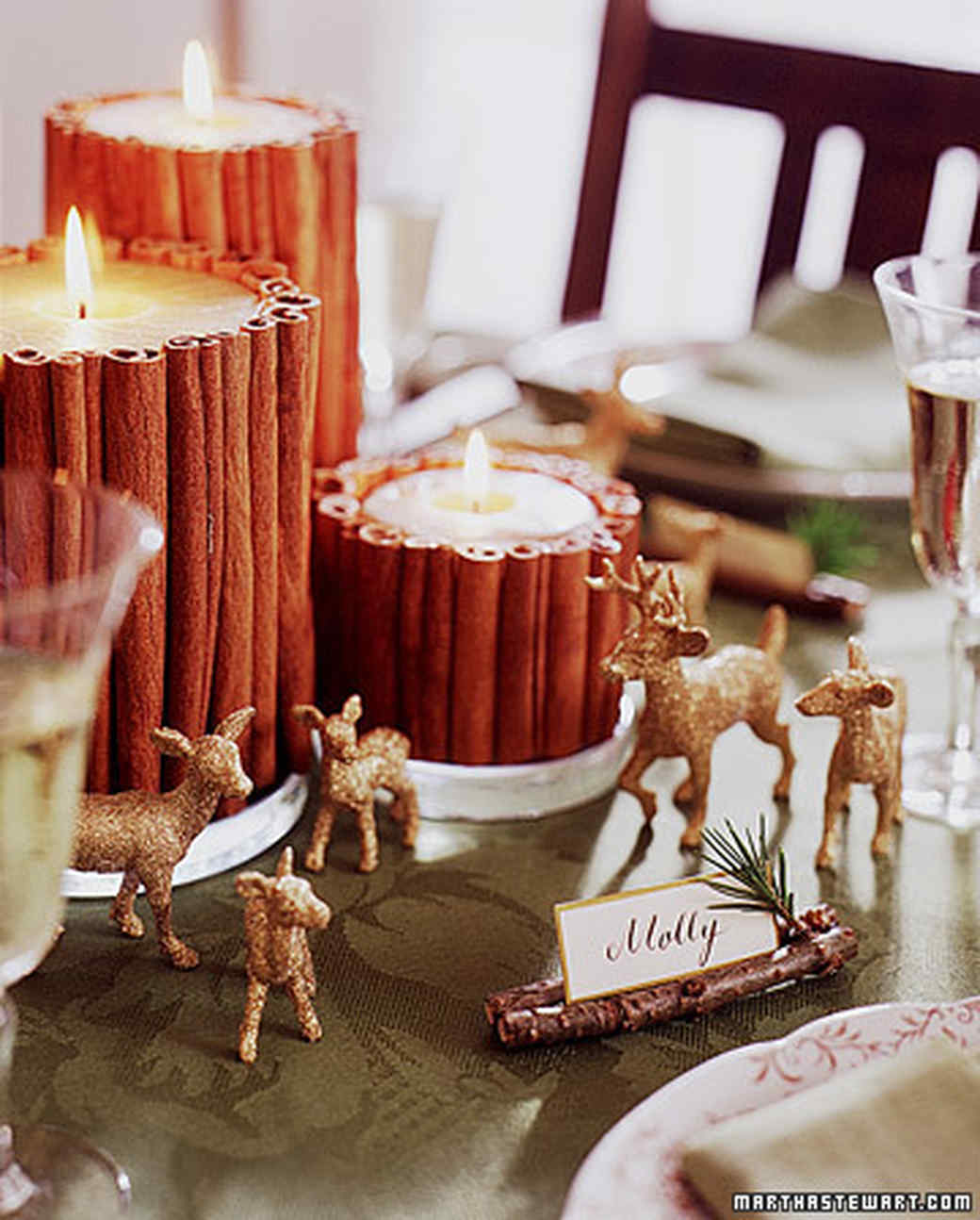 Non-Fussy Winter Table Decorations