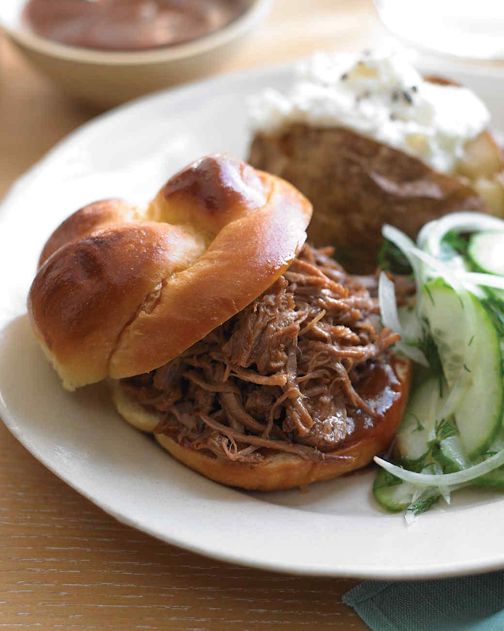 Southern Pulled-Pork Sandwiches Recipe  Video Martha Stewart
