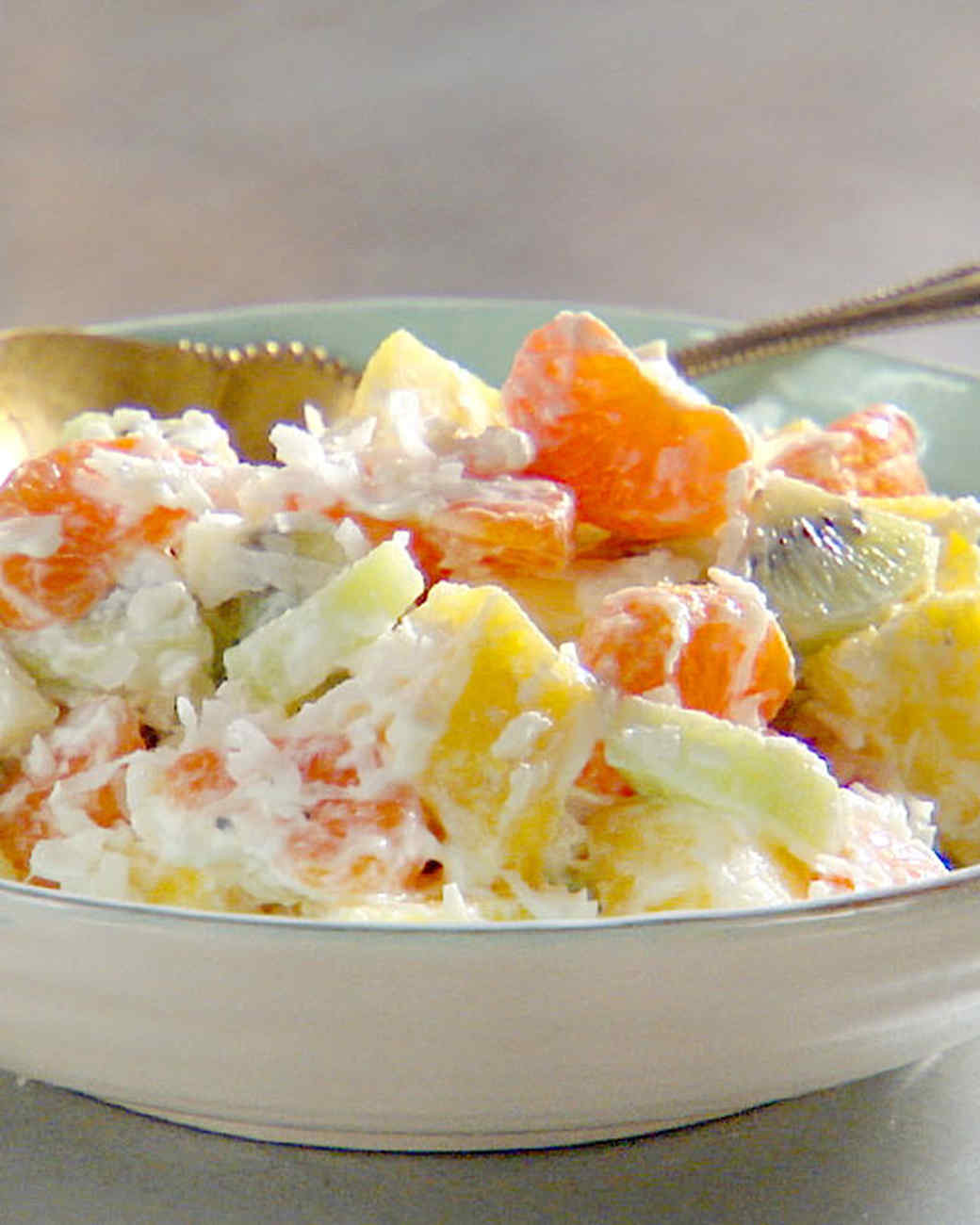 ambrosia fruit salad healthy breakfast fruit salad