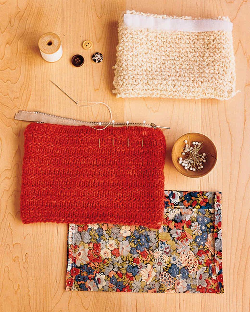 Martha Stewart Knitting Patterns : Knit Pouches Martha Stewart
