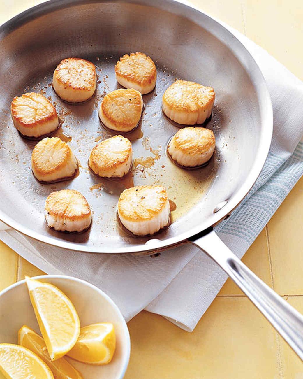 Pan-Seared Scallops With Lemon Recipe