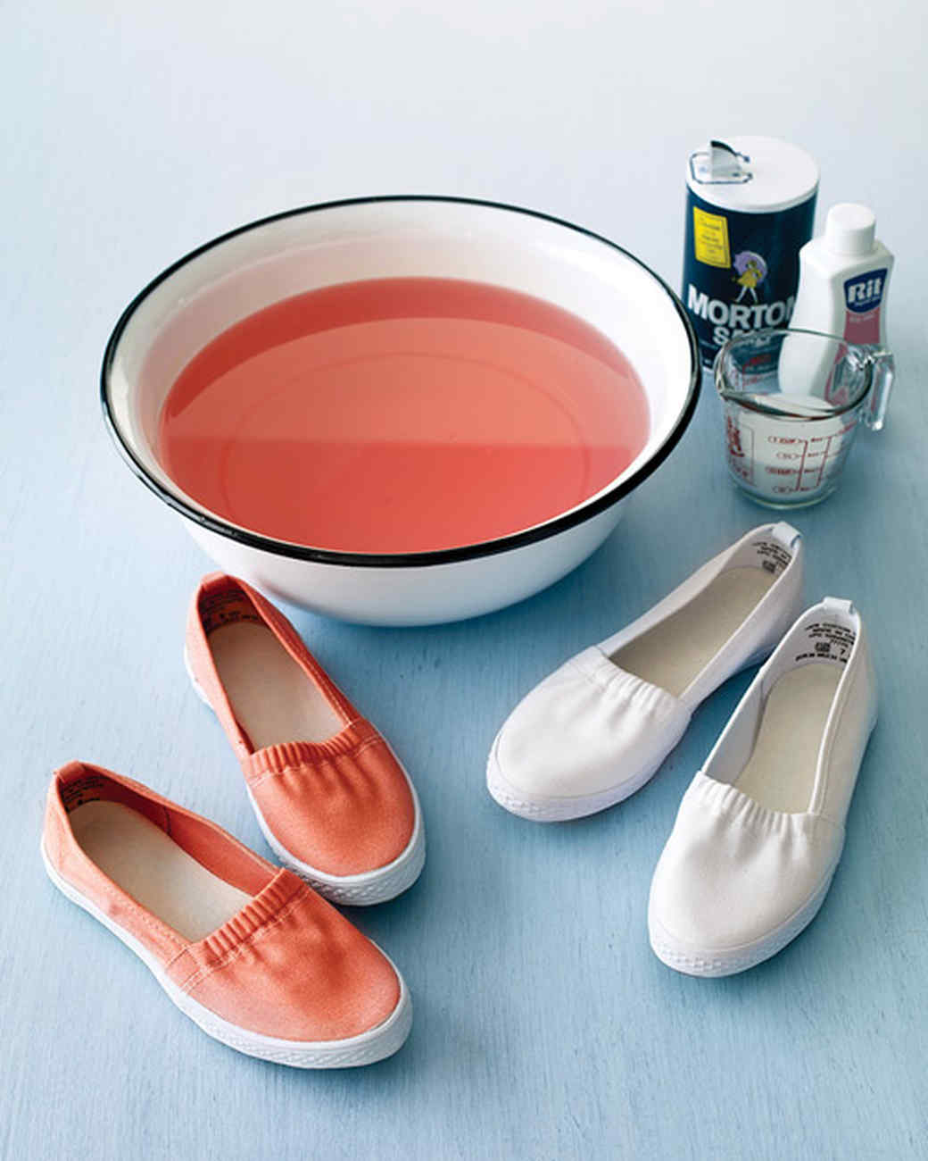 Dyeing Leather Shoes White
