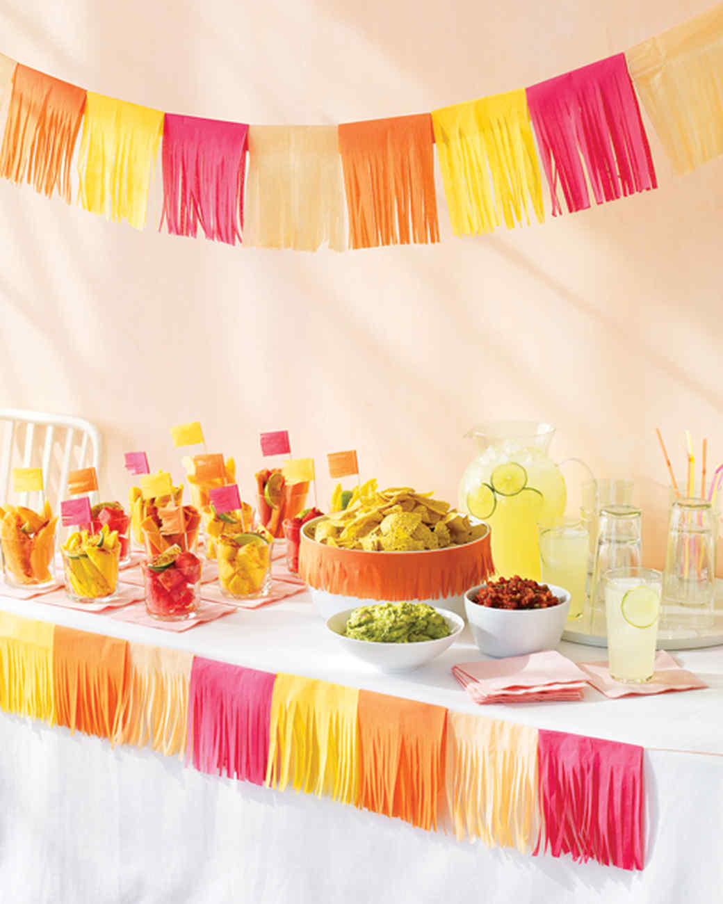 Table decorations for mexican dinner - Tissue Paper Decorations
