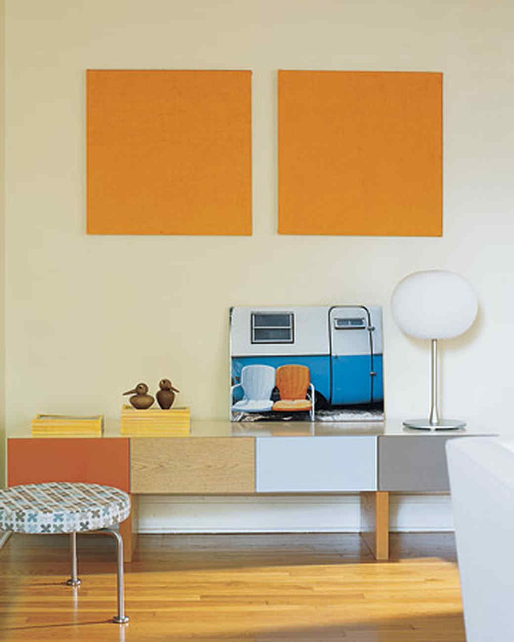orange rooms | martha stewart