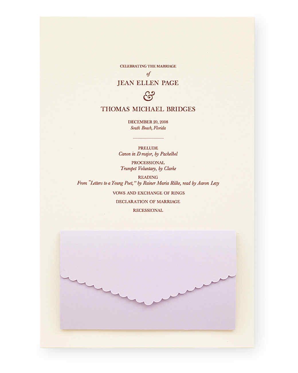Unique Wedding Ceremony Programs Martha Stewart Weddings - oukas.info
