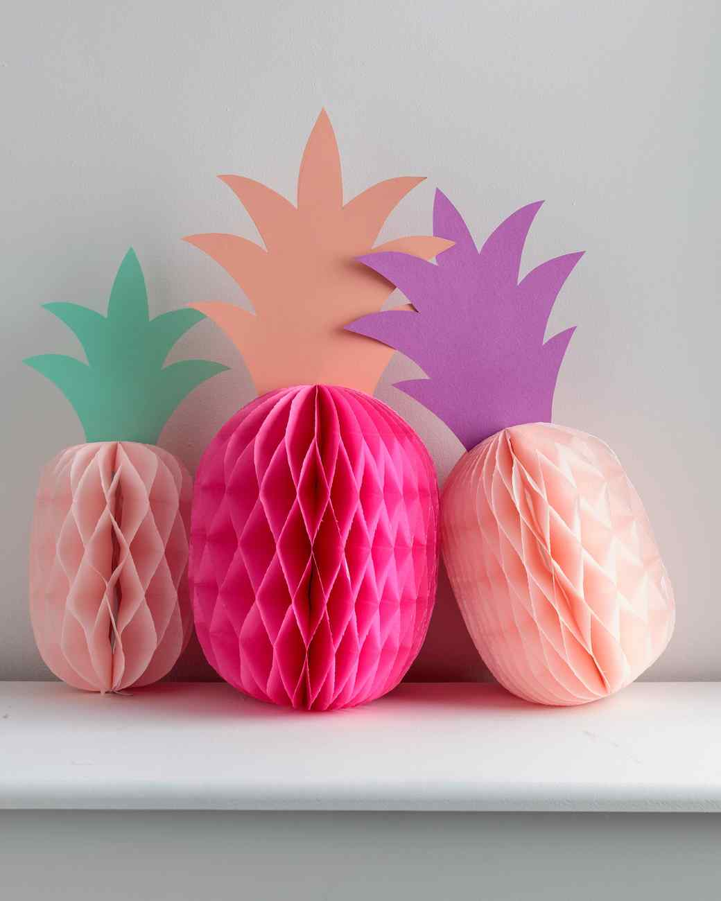 Paper pineapple party decorations martha stewart for Decorations out of paper