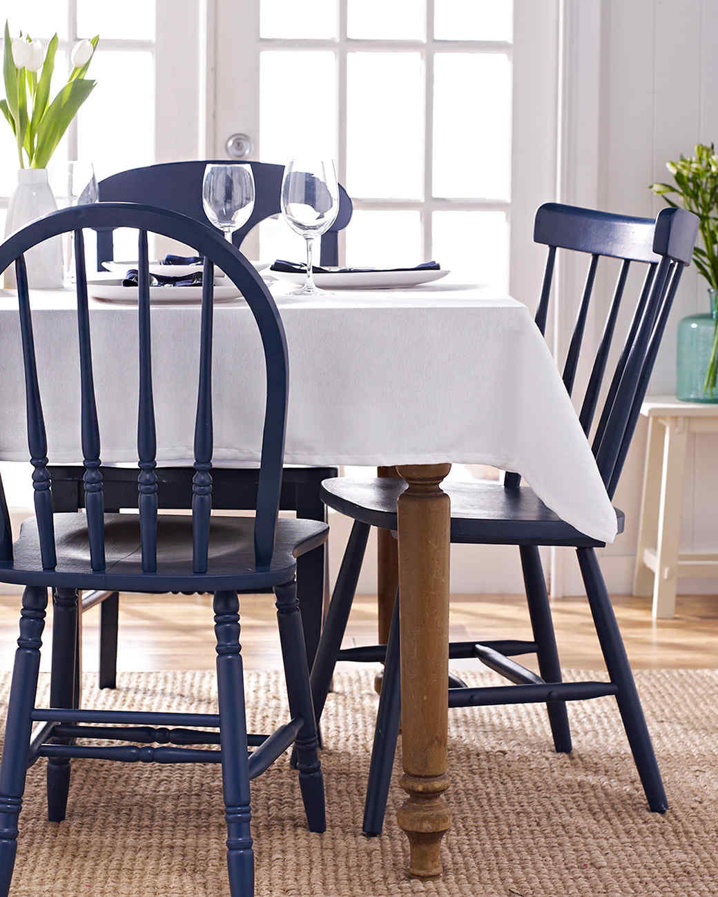 Painted Wood Dining Room Decorating: Painted Wooden Chairs
