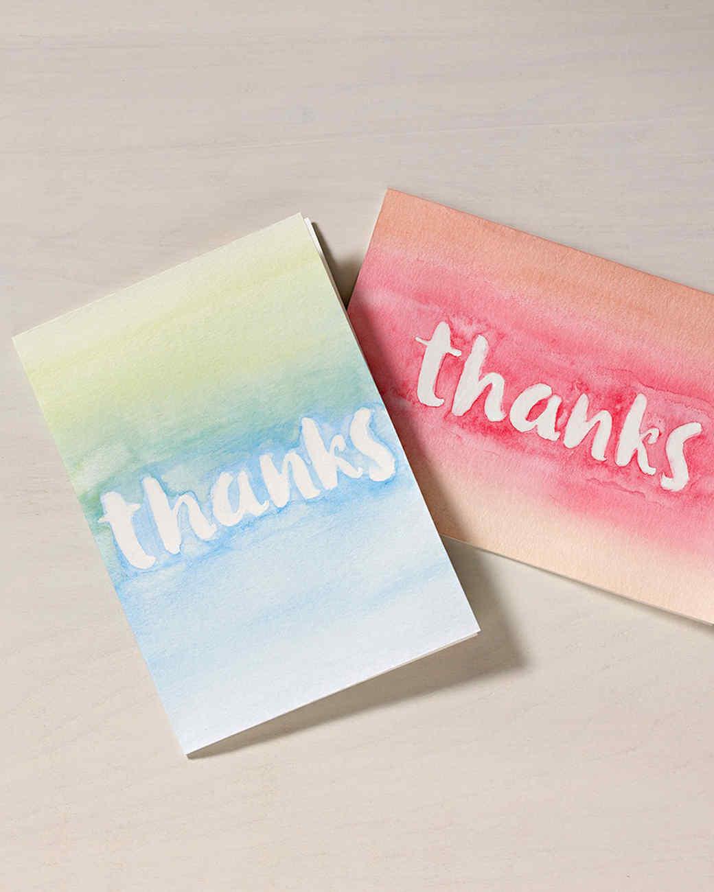 plaid thanks cards