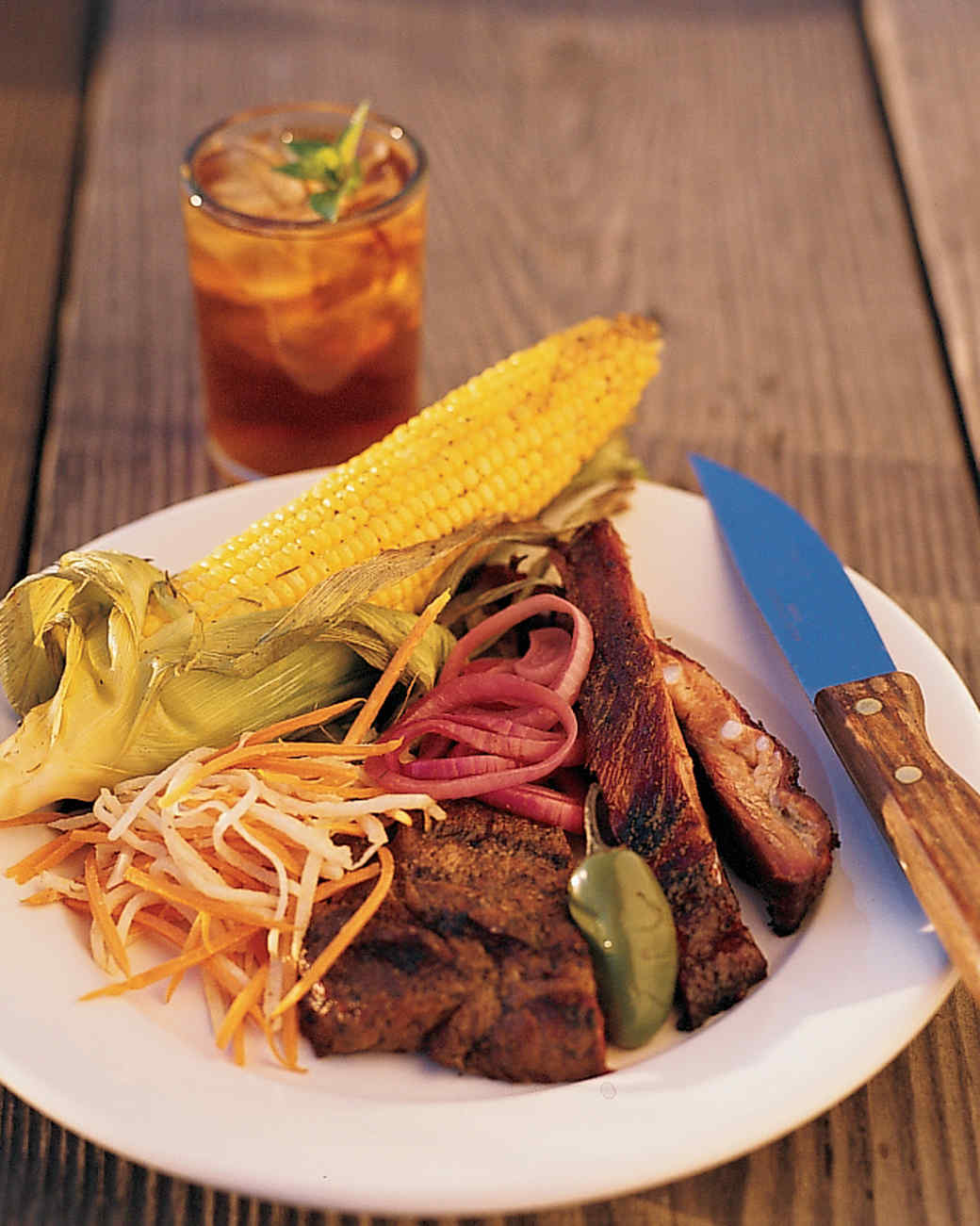 Barbecued Pork Ribs with Maple Rub