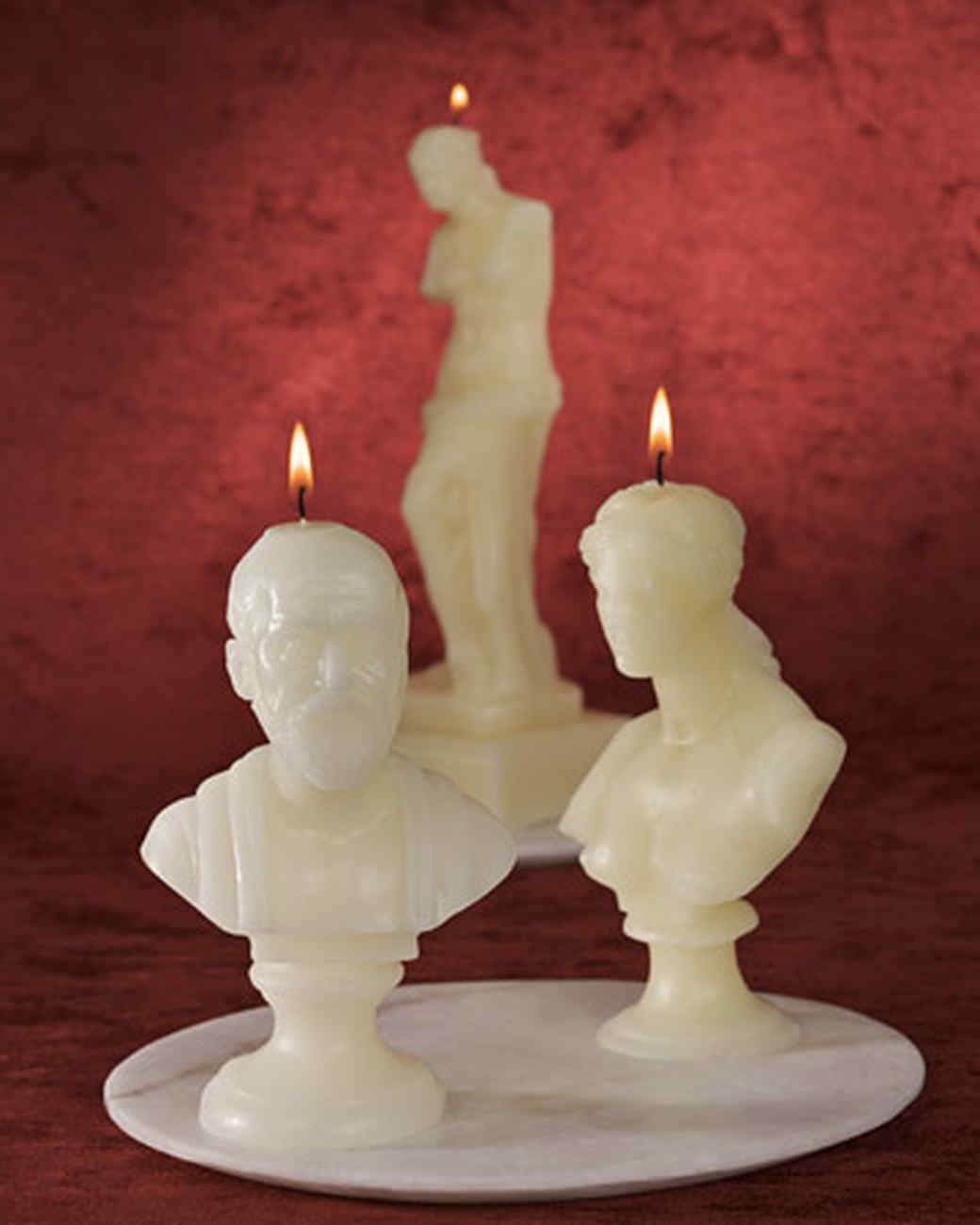 Hippocrates Bust Candle