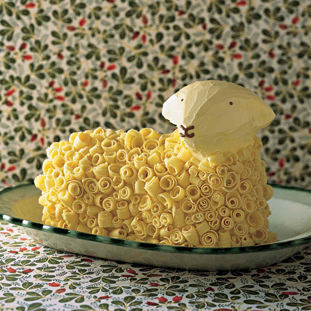 Lamb Cake with White-Chocolate Buttercream