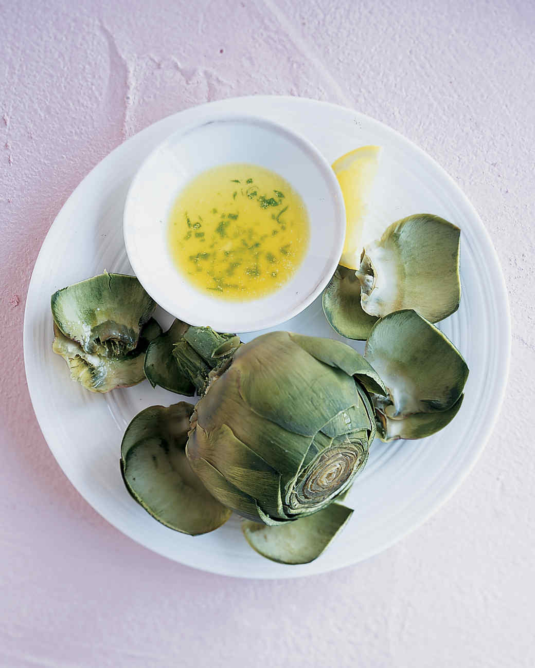 Steamed Artichokes With Tarragon Butter