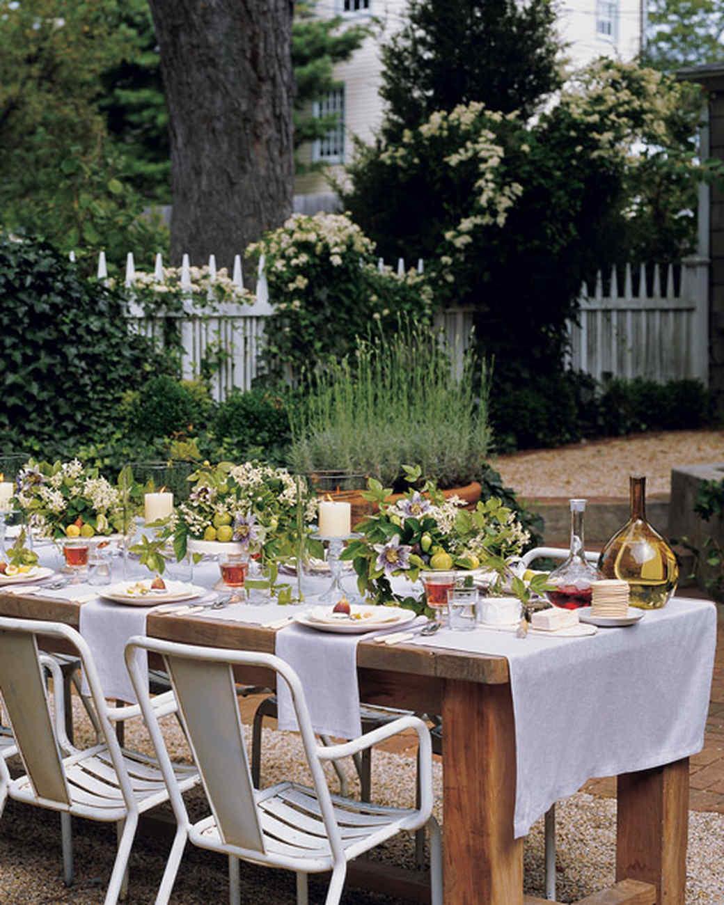 outdoor party centerpieces | martha stewart