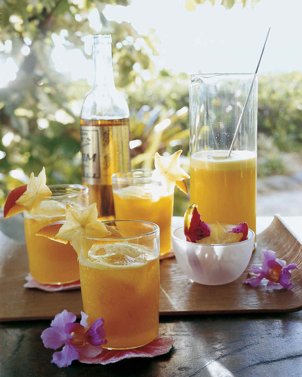 Pineapple and Mango Rum Cocktails Recipe | Martha Stewart