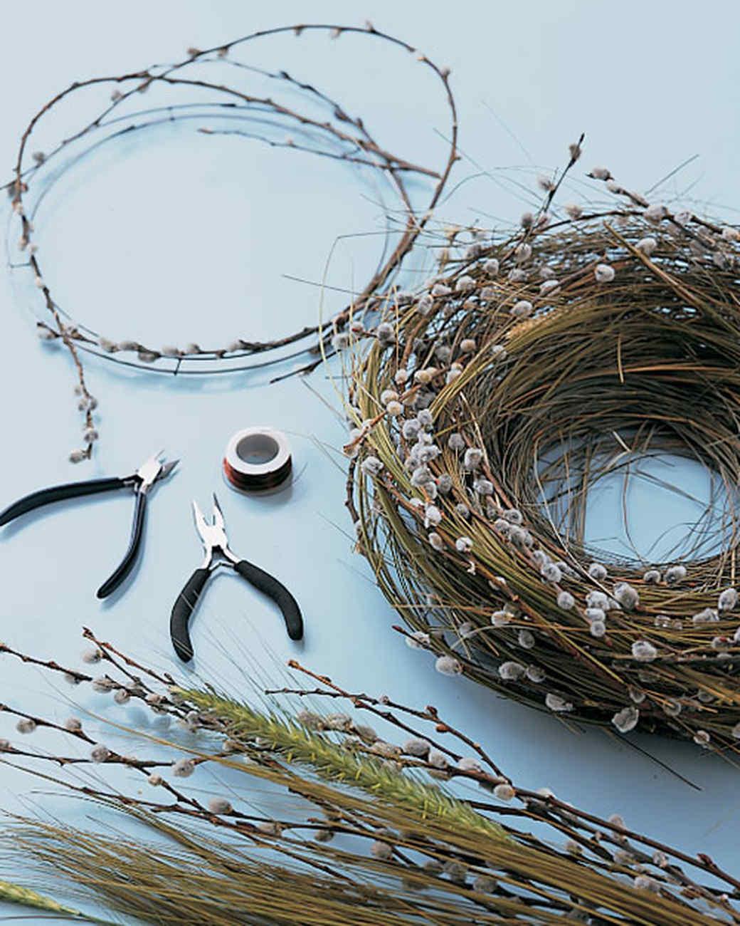 Как сделать декоративное гнездо своими руками из веток фото