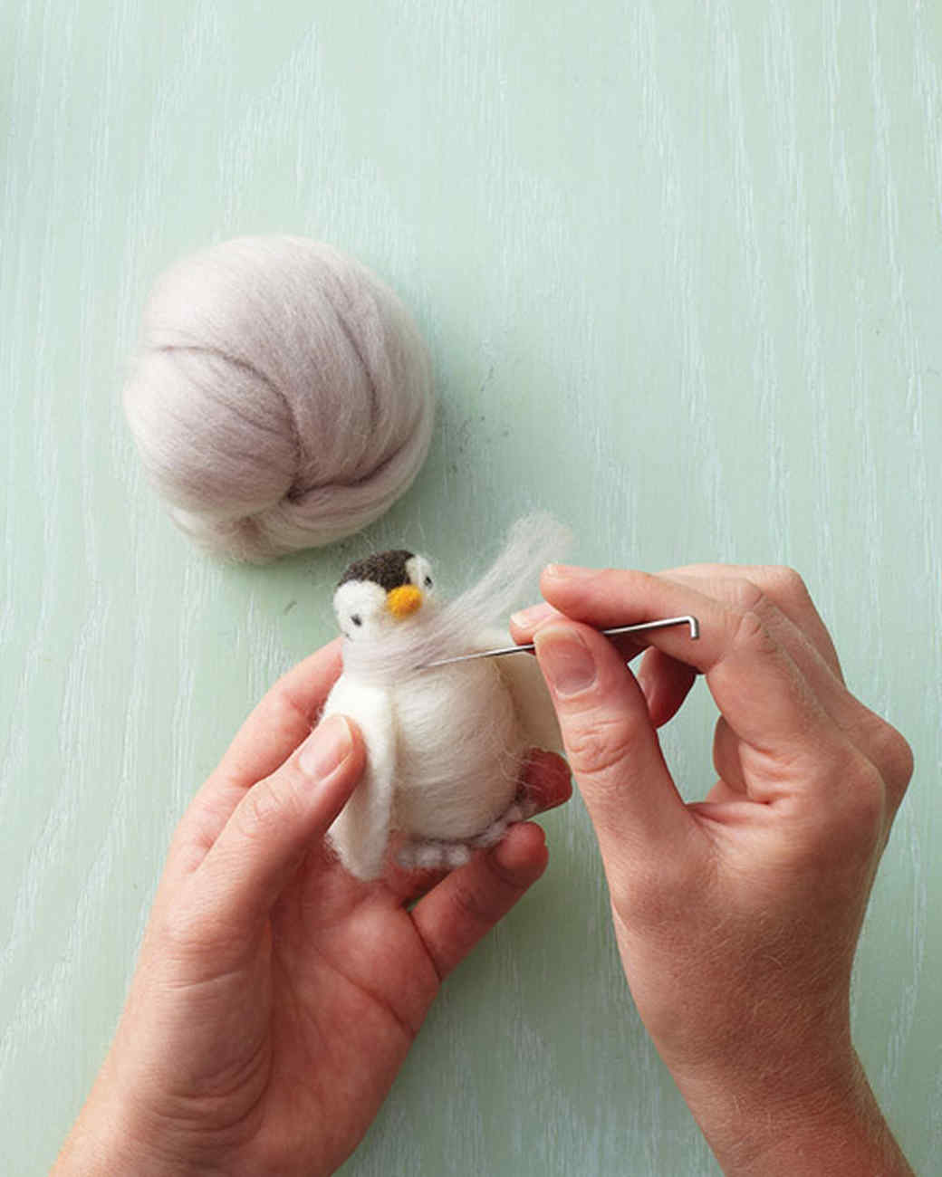 How To Make A Needle Felted Penguin Martha Stewart