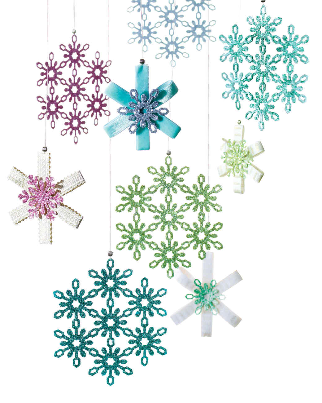 Christmas snowflake ornaments - Eric Pike S Glittered Snowflake Ornaments