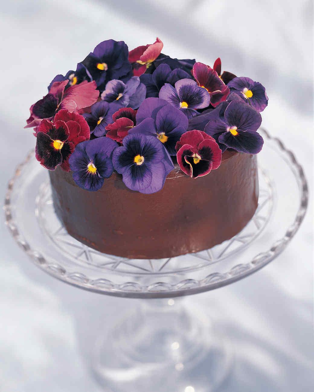 Chocolate Pansy Cake