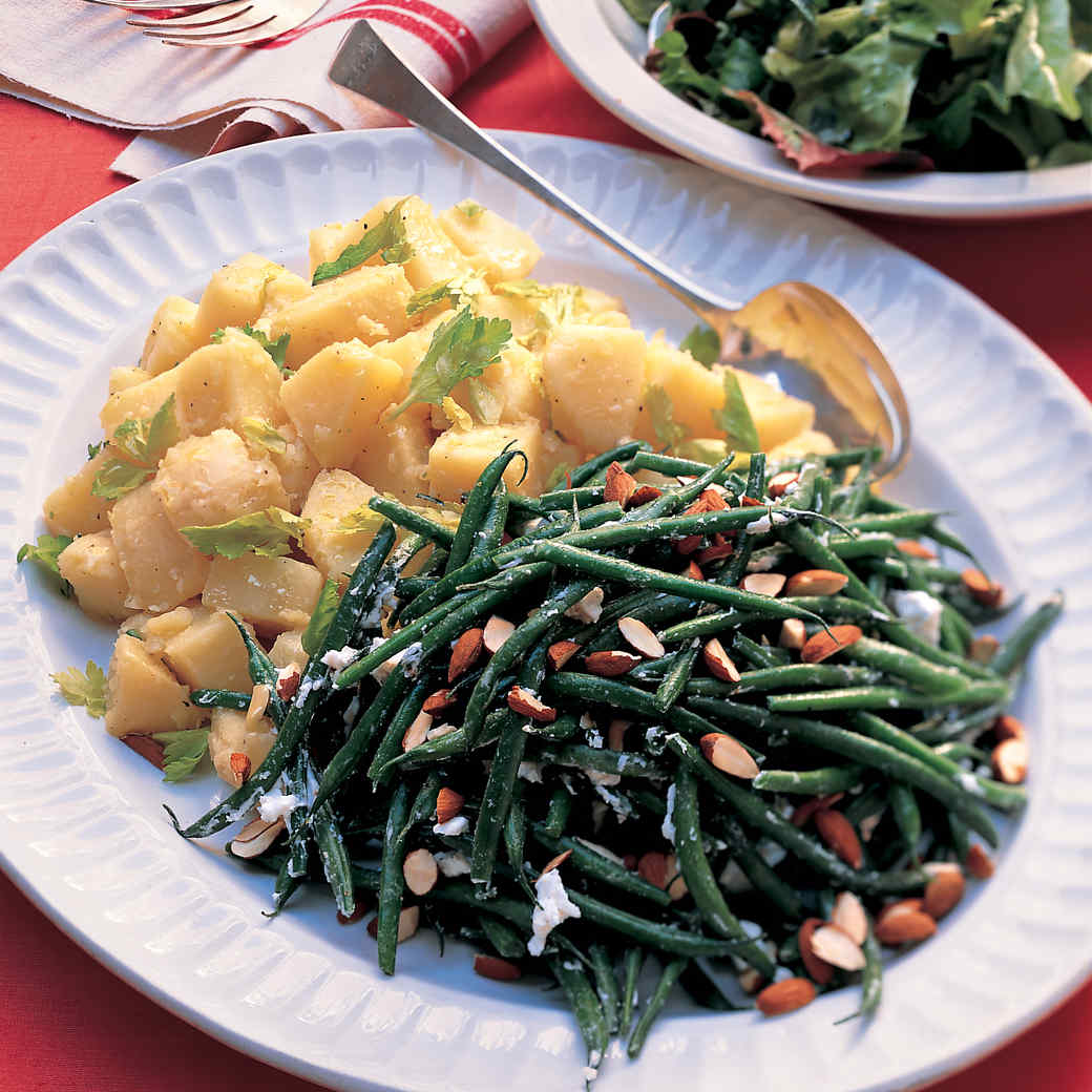 French Potato Salad with White Wine and Celery Leaves