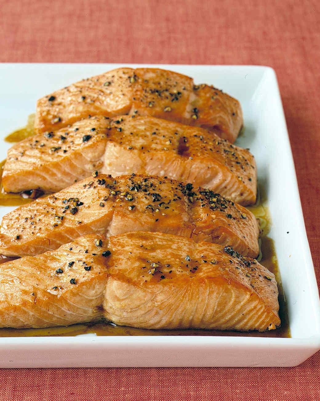 soy-glazed salmon