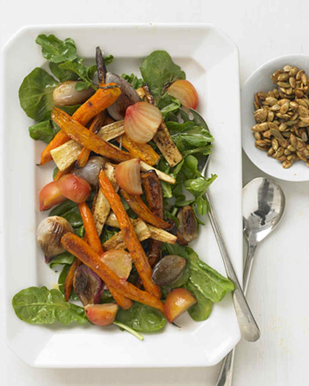 Shallot Vinaigrette For Roasted Autumn Harvest Salad