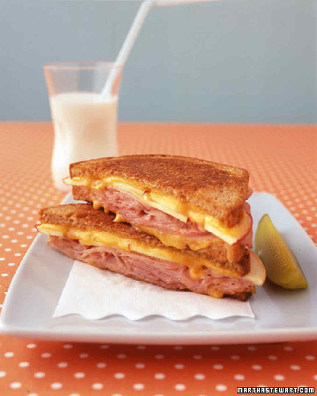 Open Face Egg And Griddled Ham Breakfast Sandwiches Recipe: Kids' Favorite Sandwich Recipes