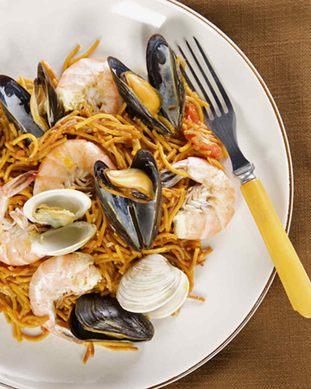 Seafood pasta recipes martha stewart for Fish and seafood