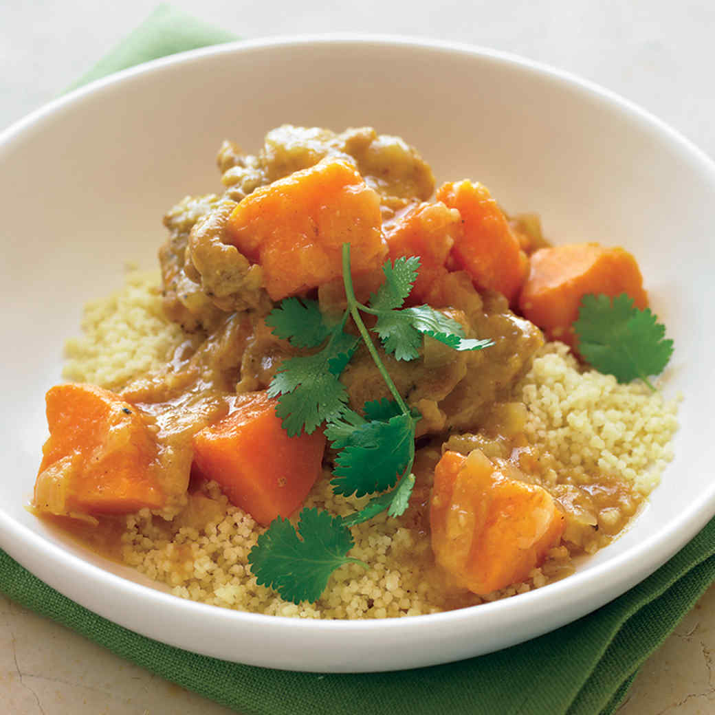 Moroccan Chicken Stew with Sweet Potatoes