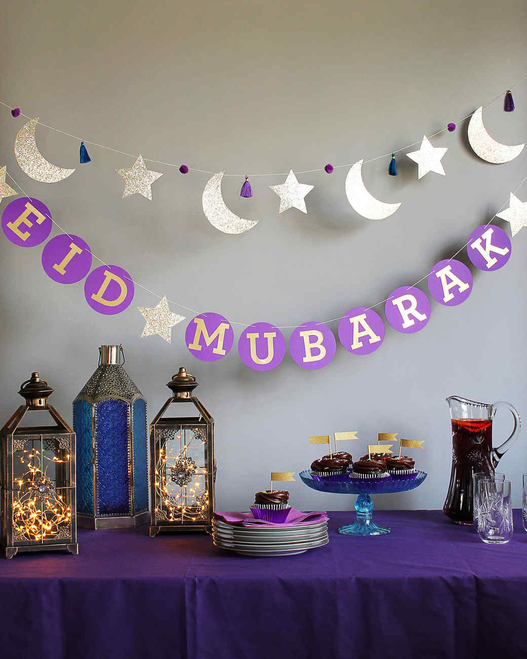 Eid mubarak circle garland martha stewart Islamic decorations for home