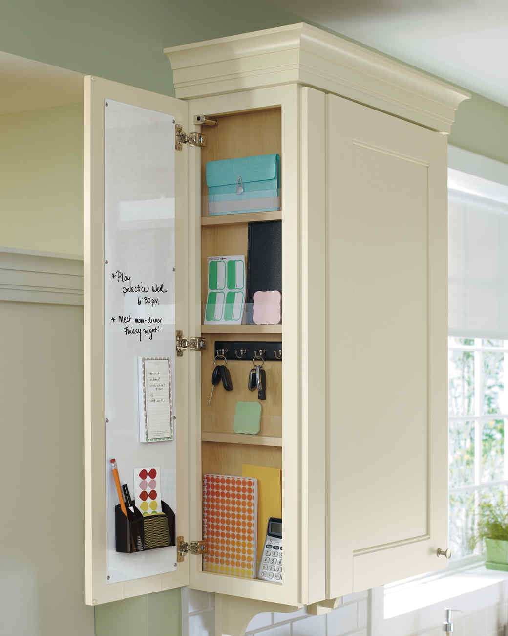 home depot family message center cabinet
