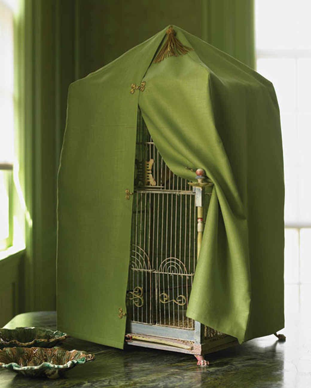 birdcage cover video martha stewart. Black Bedroom Furniture Sets. Home Design Ideas