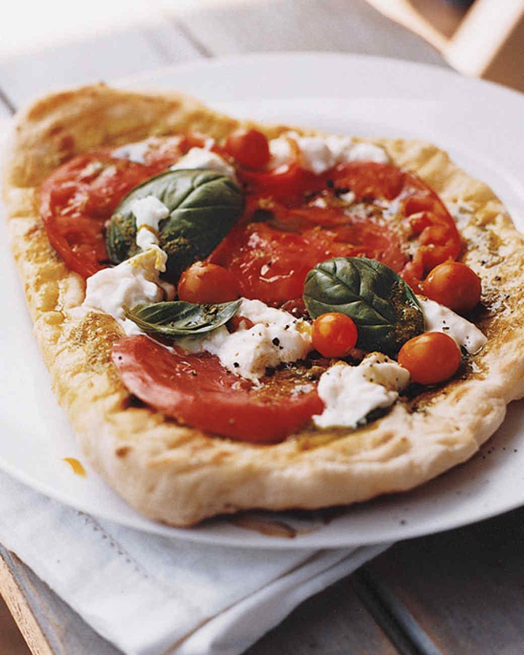 Tomato, Burrata, and Pesto Piadinas