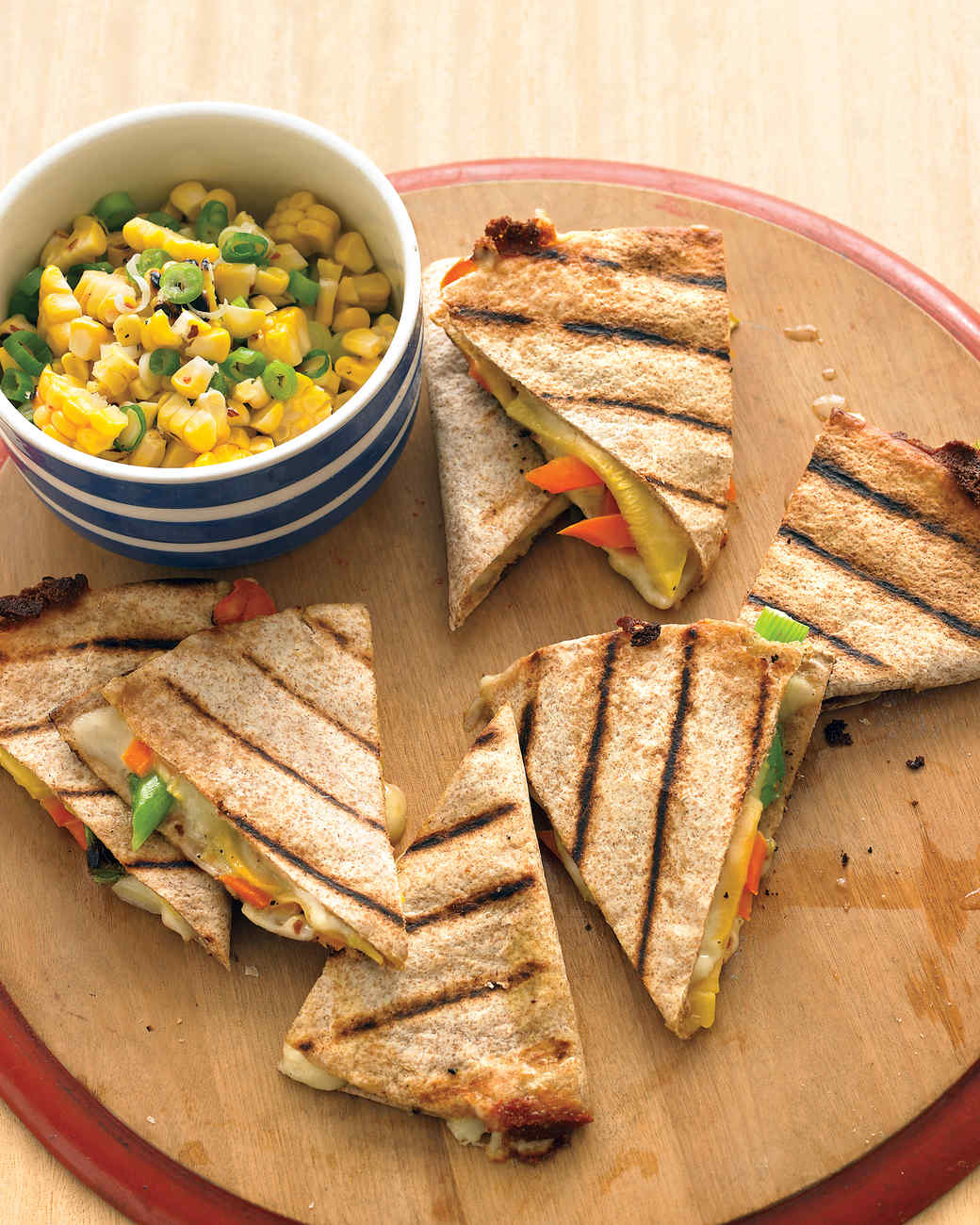 Fresh Vegetable Quesadillas with Corn Relish Recipe ...